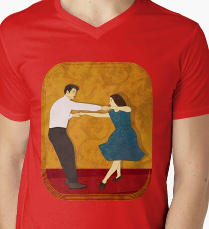 Swing Dance Mens V-Neck T-Shirt