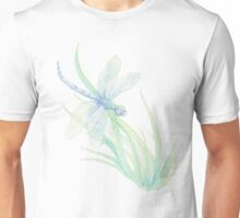 Watercolor Dragonfly in Blues & Greens Unisex T-Shirt
