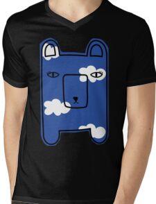Clouds bearie. Mens V-Neck T-Shirt