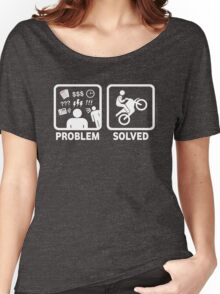 Problem Solved Motorbike T Shirt Women's Relaxed Fit T-Shirt