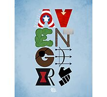 Avengers Typography Photographic Print