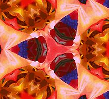 Kaleidoscope Geometry Pattern From Nature 11 by Kenneth Grzesik