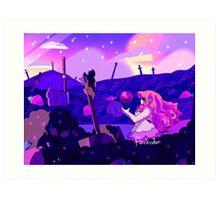 Strawberry Battlefield Art Print