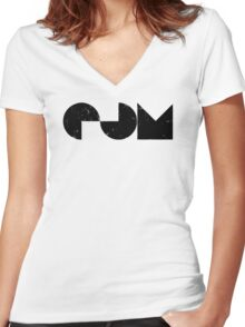 EDM electric dance music Women's Fitted V-Neck T-Shirt