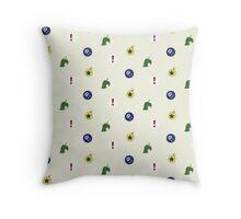Animal Crossing icons textile Throw Pillow