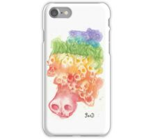 Rainbow Skulls and Flowers iPhone Case/Skin