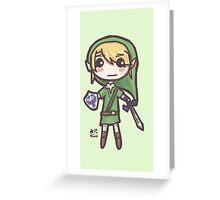 Zelda Chibis (2016)- Link Greeting Card