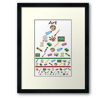 Art eye chart  Framed Print