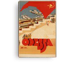 Odessa, Ukraine Vintage Travel Poster Canvas Print