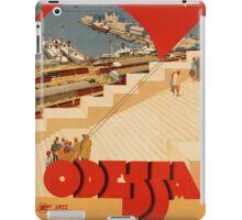 Odessa, Ukraine Vintage Travel Poster iPad Case/Skin