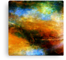 Fluid Acrylic Painting ABOVE THE CLOUDS Artist Holly Anderson Canvas Print