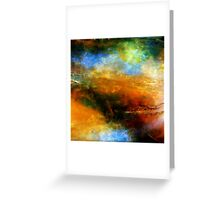 Fluid Acrylic Painting ABOVE THE CLOUDS Artist Holly Anderson Greeting Card