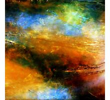 Fluid Acrylic Painting ABOVE THE CLOUDS Artist Holly Anderson Photographic Print