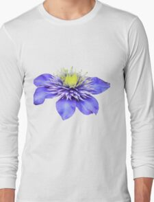 Pretty Purple Flower Long Sleeve T-Shirt
