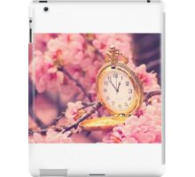 Clock and cherry blossoms iPad Case/Skin