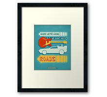 Back To The Future Illustration Framed Print