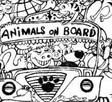 Animals on Board Sticker