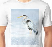 Watercolor Great Blue Heron Bird  Unisex T-Shirt
