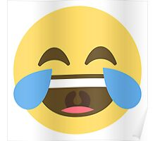 Face With Tears Of Joy Emoji Poster