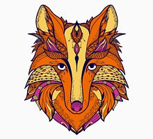 Zentangle stylized cartoon of fox Unisex T-Shirt