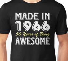 Made in 1966, 50 Years of Being Awesome (dark) Unisex T-Shirt