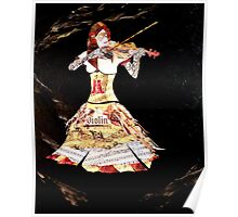abstract violin contemporary classy Painting DOLCE CONCERTO Poster
