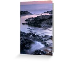 Fading Light at the Blowhole Greeting Card