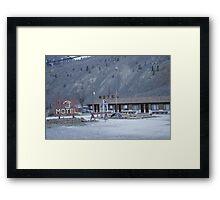 Thompson River Spences Bridge Motel Framed Print