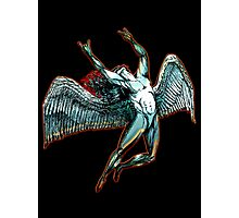ICARUS THROWS THE HORNS - dark shadows Photographic Print