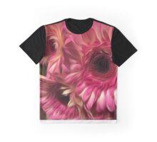 Pink, Cream & Black Daisies Graphic T-Shirt