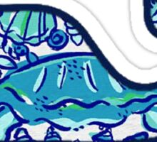 Blue Beachy Lilly Whale Sticker