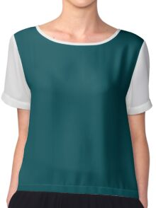 Midnight Green  Chiffon Top