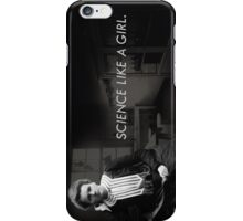 Science like a girl. iPhone Case/Skin