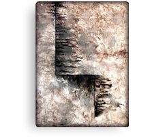 Grey and Black Textured Abstract Painting JOURNEY  Canvas Print
