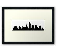 New York designs  Framed Print