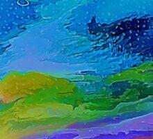Misty Sierra Abstract  by Lena Owens Sticker