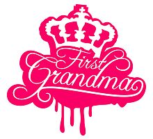 First Grandma Queen Crown Graffiti by Style-O-Mat