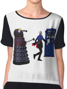 12th Doctor and Dalek Chiffon Top