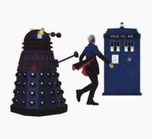 12th Doctor and Dalek One Piece - Long Sleeve