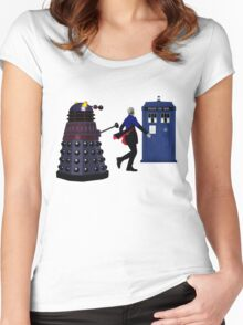 12th Doctor and Dalek Women's Fitted Scoop T-Shirt