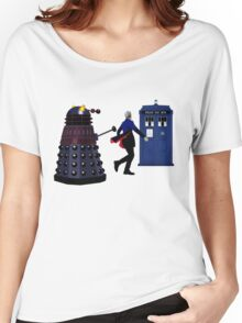 12th Doctor and Dalek Women's Relaxed Fit T-Shirt