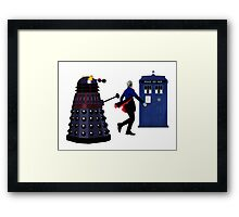 12th Doctor and Dalek Framed Print