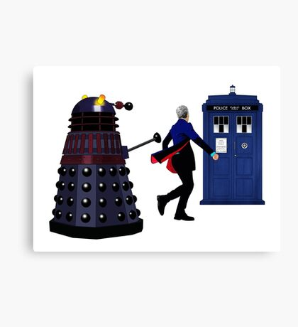 12th Doctor and Dalek Canvas Print
