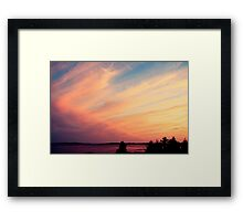 Pink and Purple Sunset Framed Print