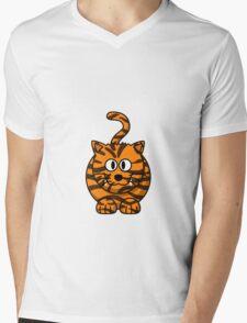 FAT CAT Mens V-Neck T-Shirt