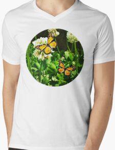 Summer Butterflies Mens V-Neck T-Shirt