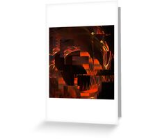 Fractured Fractal Frenzy Greeting Card