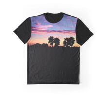 St Tims Palms Sunset ~ digital paint effect  Graphic T-Shirt