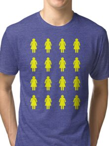 Bee's Knees Honeycomb Girls (Greeting Card, Shirt, Pillow, Tote) Tri-blend T-Shirt