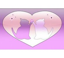 Kittens In Hearts Photographic Print